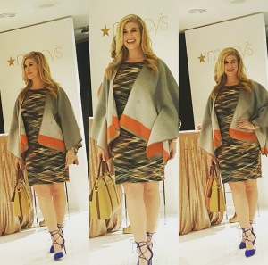 Modeling Fall fashion trends for Macy's Union Square store in San Francisco, California.